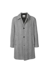 Abrigo largo en negro y blanco de Paltò