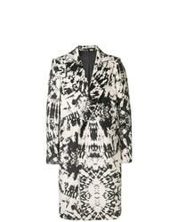 Abrigo largo en negro y blanco de Sss World Corp