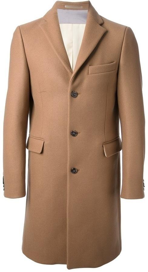 Abrigo largo marrón claro de Acne