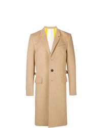Abrigo largo marrón claro de Helmut Lang