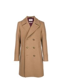 Abrigo largo marrón claro de Paltò
