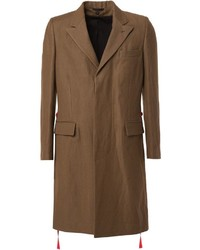 Abrigo largo marrón de Ann Demeulemeester