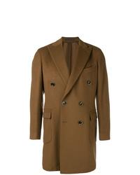 Abrigo largo marrón de Bagnoli Sartoria Napoli
