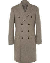 Abrigo largo marrón de Brunello Cucinelli