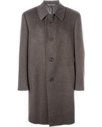 Abrigo largo marrón de Canali