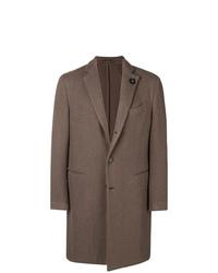Abrigo largo marrón de Lardini