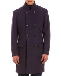 Abrigo largo morado oscuro