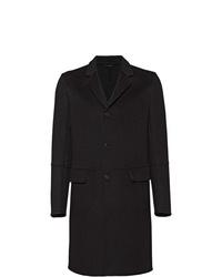 Abrigo largo negro de Prada