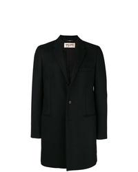 Abrigo largo negro de Saint Laurent