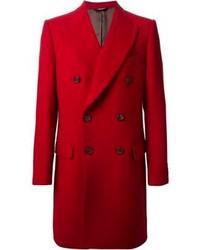 Abrigo largo rojo de Dolce & Gabbana