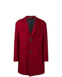 Abrigo largo rojo de Lanvin