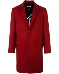 Abrigo largo rojo de MSGM