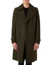 Abrigo largo verde oliva de Topman