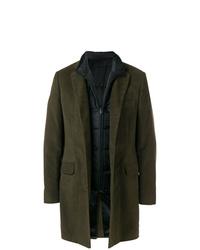 Abrigo largo verde oscuro de Fay