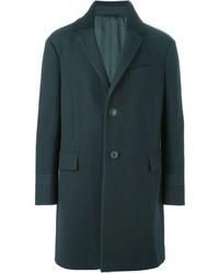 Abrigo largo verde oscuro de Lanvin