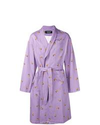 Abrigo largo violeta claro