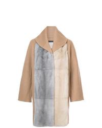Abrigo marrón claro de Fabiana Filippi