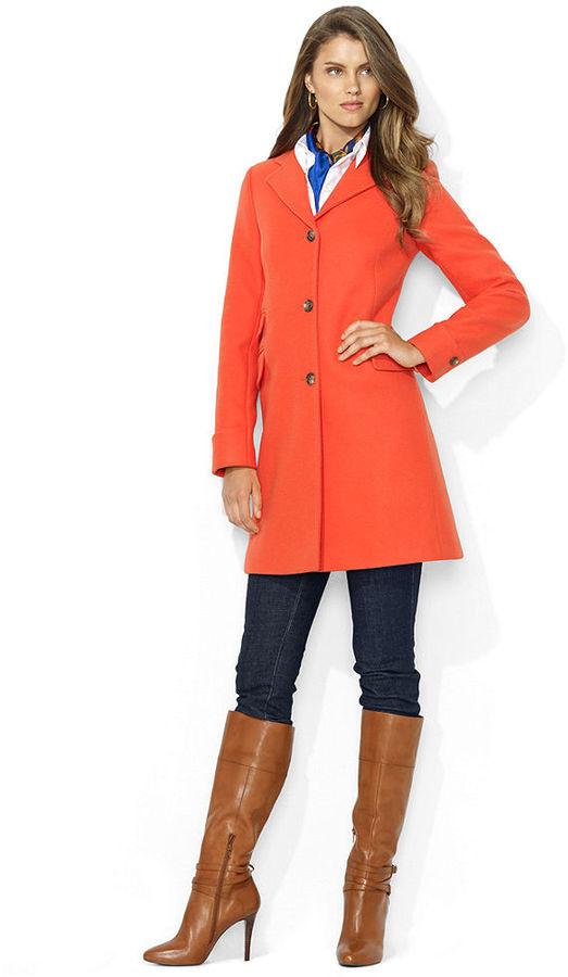 Abrigo naranja combinar