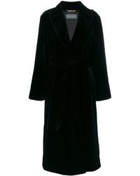 Abrigo negro de Alberta Ferretti