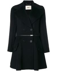 Abrigo negro de Fendi