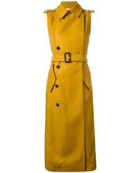 Abrigo sin mangas amarillo de Victoria Beckham