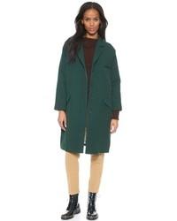 Abrigo verde oscuro