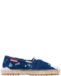Alpargatas vaqueras azul marino de DSQUARED2