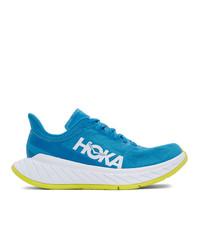 Hoka One One Blue Carbon X2 Sneakers