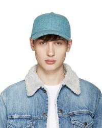 Larose Blue Wool Baseball Cap