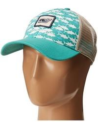 Vineyard Vines Fish Print Trucker Hat Caps
