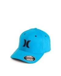 Hurley Hats One Colour Flexfit Baseball Cap Aqua Blue