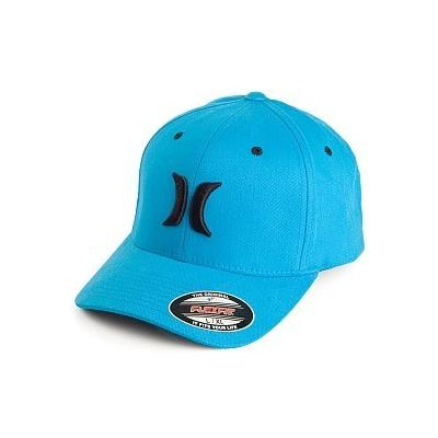 ... Hurley Hats One Colour Flexfit Baseball Cap Aqua Blue ab914446319