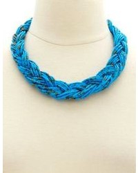 Charlotte Russe Two Tone Beaded Braided Necklace