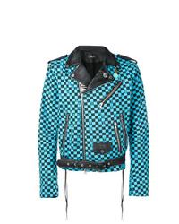 Amiri Checked Biker Jacket