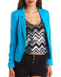 Charlotte russe long sleeve single button blazer medium 69639