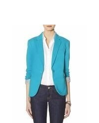 The Limited Obr One Button Blazer Blue M