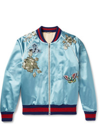 Aquamarine Bomber Jacket