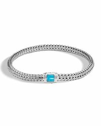 John Hardy Classic Chain Extra Small Pusher Clasp Bracelet With Turquoise