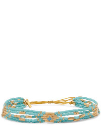 Chan Luu Gold Plated Turquoise Bracelet