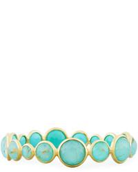 Ippolita Rock Candy Lollipop 18k Quartz Turquoise Doublet Bangle