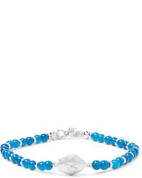 Isaia San Gennaro Bead And Silver Bracelet