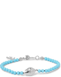 Isaia San Gennaro Silver Turquoise Bracelet