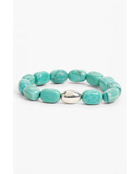 Simon sebbag stretch bracelet silver turquoise medium 233658