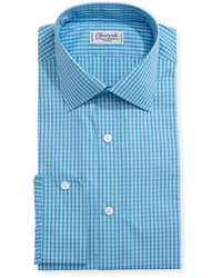 Charvet Mini Check Cotton Dress Shirt