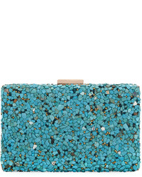 Neiman Marcus Stone Crystal Box Clutch Bag