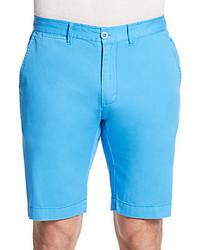 Aquamarine Cotton Shorts