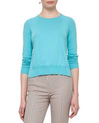 Akris Punto Ruffled Hem Cotton Sweater