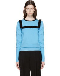 J.W.Anderson Blue Frill Sweater