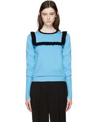 J.W.Anderson Blue Frill Sweater
