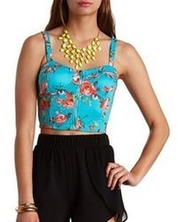 Aquamarine Cropped Top